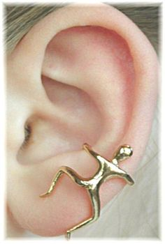 Man Ear Cuff  14K Gold Vermeil  SINGLE SIDE door ChapmanJewelry