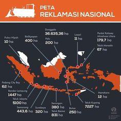 Dari #Sabang sampai #Merauke berjajar #PulauKw alias #PulauPalsu #reklamasi #berita #bali #beritabali peta : twitter/@ecosocrights by beritabalicom