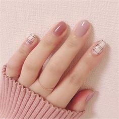 Plaid Nails, Swag Nails, Acrylic Nail Designs, Nail Art Designs, Blog Designs, Cute Nails, Pretty Nails, Nails Ideias, Design Ongles Courts