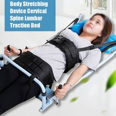 Body Stretching Device Cervical Spine Lumbar Traction Bed Therapy Massage Tool #Unbranded Lumbar Stretches, Body Stretches, Bunion Pads, Lumbar Pain, Copper Fit, Posture Correction, Massage Tools, Back Pain, Stretching