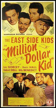 East Side Kids - Million Dollar Kid 1944 Top Comedies, Classic Comedies, Classic Movies, Movies For Boys, Kid Movies, Movie Tv, 1960s Movies, Vintage Movies, Vintage Ads