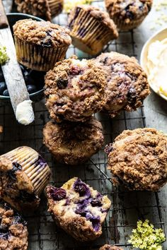Blueberry Swirl Coffee Cake Muffins. | Half Baked Harvest | Bloglovin'