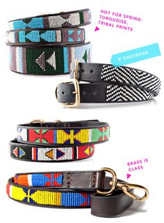 hot for spring - tribal dog collars from africa