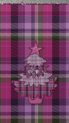 ༶Tee's iScreen Creations༶ — Purple Plaid Christmas Tress iPhone Wallpapers &...