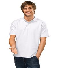 Mens Heavyweight Printed Polo Shirt White Min 25 - 170 deluxe cotton pique for comfort. Mix and match this product with at the same price. Cheap Polo Shirts, Printed Polo Shirts, Promotional Clothing, Polo Shirt White, Corporate Gifts, Polo Ralph Lauren, Prints, Mens Tops, T Shirt