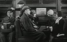 Hitchcock's cameo appearance in Blackmail