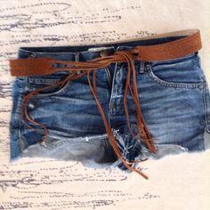 Boho fringe leather belt Like new leather belt, fringe ties. Accessories Belts