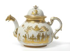 Tennants Auctioneers: A Meissen Porcelain Goldchinesen Teapot and Cover