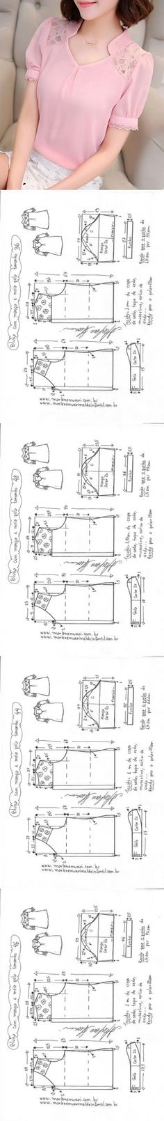 Tunic Sewing Patterns, Sewing Blouses, Baby Dress Patterns, Clothing Patterns, Dress Tutorials, Sewing Tutorials, Sewing Projects, Amarillis, Diy Couture