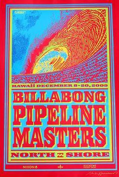 Billabong Pipeline Poster