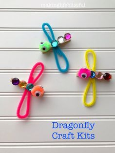 Craft kits for kids - Dragon fly craft - Crafts for kids - Insect crafts - Kids' crafts - Insect Crafts, Bug Crafts, Craft Stick Crafts, Clothespin Crafts, Neon Crafts, Beach Crafts, Popsicle Crafts, Paper Crafts, Etsy Crafts