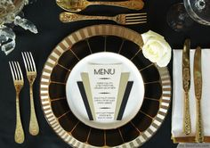 Art Deco Themed Details For A Great Gatsby Party ❥❥❥ http://bestpickr.com/great-gatsby-themed-party-ideas