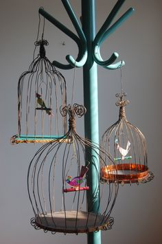 Wire bird cage via Etsy.
