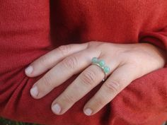 green aventurine  sterling silver ring  by AMjewelryStudio on Etsy