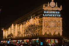 Paris, Galeries Lafayette by marianboulogne, via Flickr.  Christmas in Paris, France.  by marianboulogne
