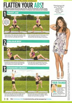 flatten your abs   ashley tisdale's piloting workout   seventeen magazine august 2010