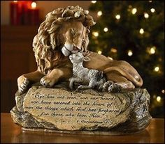 JESUS LION AND LAMB PRAYER STATUE CHRISTMAS GIFT CHRISTIAN OR CATHOLIC BEAUTIFUL Beattitudes gifts