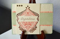 Baroque Engagement Card by TheRoundedCorner on Etsy