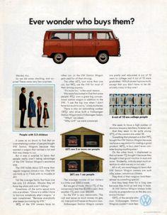 1970 Volkswagen Station Wagon bus van print ad Ever by Vividiom, $9.00