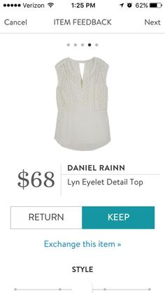 Daniel Rainn Lyn Eyelet Detail Top