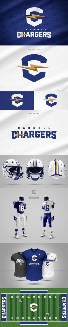 Carroll Chargers - Rebrand Concept by Wes Teska