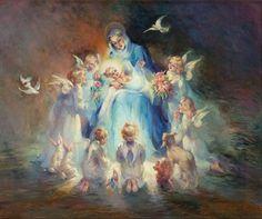 Holy Mary and infant Jesus. Image du Blog lusile17.centerblog.net