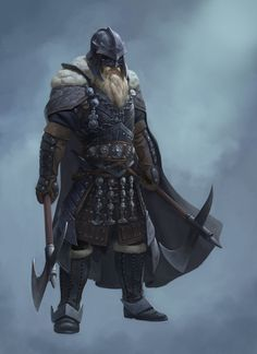 Barbarian, Nik Overdiek on ArtStation at https://www.artstation.com/artwork/qXg0P
