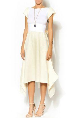 Ioanna Kourbela Snow White Linen Dress by shoptiques.com