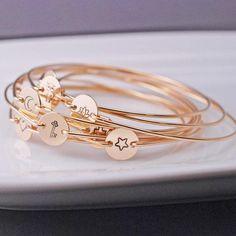 Gold Bangle Bracelet. Craft ideas from LC.Pandahall.com   #pandahall