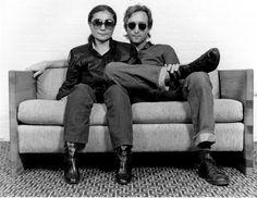 Artists in black   John  Yoko