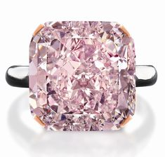 Light Purplish Pink Diamond, This gem was cut and polished from a rough stone mined in South Africa, which makes it one of the world's largest pink diamonds ever excavated. It took months to cut and polish the stone. It's set in a platinum ring. Pink Diamond Ring, Diamond Jewelry, Rough Diamond, Pink Sapphire, Colored Diamonds, Pink Diamonds, Schmuck Design, Diamond Are A Girls Best Friend, Beautiful Rings
