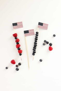 24 of the Best Red, White + Blue Party Ideas for of July via Brit + Co 4th Of July Celebration, 4th Of July Party, Fourth Of July, Mini Flags, Summer Crafts For Kids, Party Favor Tags, Blue Party, For Your Party, Holidays And Events