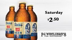 $2.50 Coors Banquet Every Saturday at #PJsPub