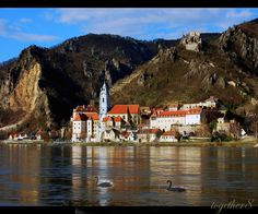 Durnstein on the Danube River in Austria  by together8