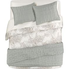 Anujah Seaglass Bed Linens in Quilts, Coverlets | Crate and Barrel