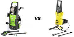 Small pressure washers:GreenWorks GPW1702 vs Karcher K2 Plus
