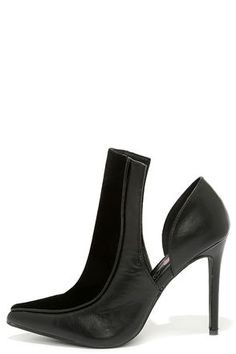 Penny Loves Kenny Oxford Black Cutout Booties
