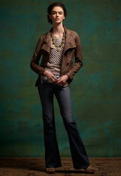 Love this entire outfit! blazer $199, slouchy stitch pullover $148, flare jeans, $168, necklace $188 and taupe tied booties $168.  All anthropologie  ( and , for the record, I would never spend this much on this type of outfit....make it work with nice substitutes ;)