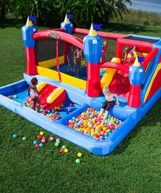 Another great find on #zulily! Misty Kingdom Inflatable Bouncer & Water Slide #zulilyfinds