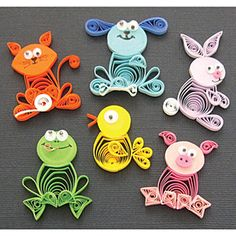 paper quilling pattern of dog - Google Search