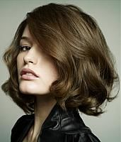 Brown Short Wavy Hair