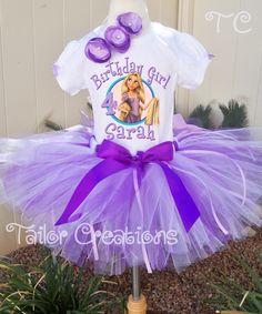 Personalized Disney Princess Rapunzel Tangled Birthday tutu set