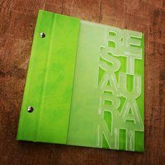 Acrylic lasercut menu cover