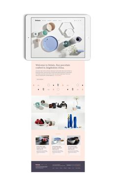 I was approached in late 2016 to design the brand, e-commerce website and packaging for a new retail business. Delain import fine porcelain from Jingdezhen China. The goal was to communicate the traditional porcelain craftsmanship and reference the loca… Ux Design, Layout Design, Graphic Design, Portfolio Layout, Ui Web, Website Design Inspiration, Creative Industries, Fine Porcelain, Ecommerce