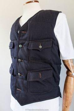 padded waistcoat chambray lined