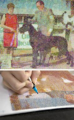 The Human Printer: Artists Create CMYK and B W Halftone Images by Hand