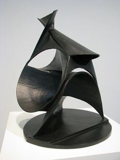 The Black Lily (Spiral Construction), 1943 Bronze by Antoine Pevsner