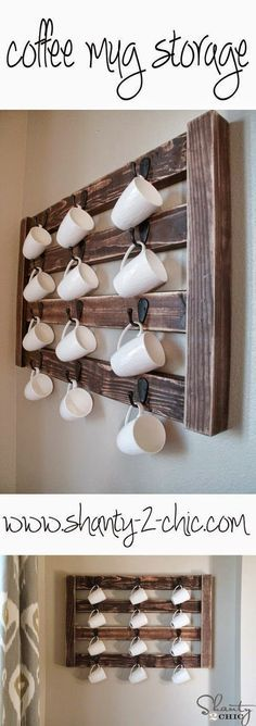 Easy DIY Coffee Mug Display!