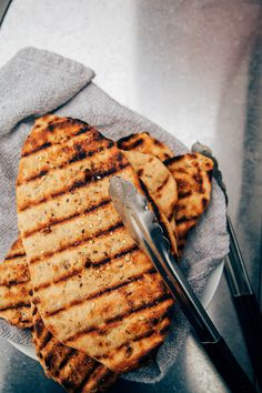 easy grilled spelt flatbread recipe via BAKED-theblog.