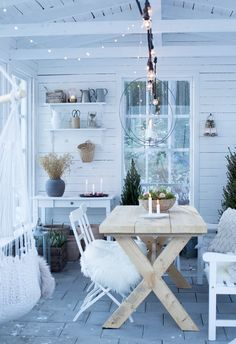 Outdoor Living Areas, Outdoor Spaces, She Sheds, Glass House, Fixer Upper, Future House, December, Sweet Home, Dining Table
